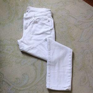 J. Crew Slim Broken In Boyfriend white jeans